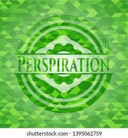 Perspiration green mosaic emblem. Vector Illustration. Detailed.