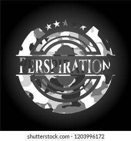 Perspiration grey camouflaged emblem