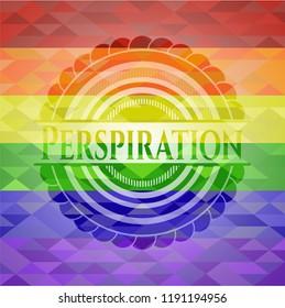 Perspiration lgbt colors emblem