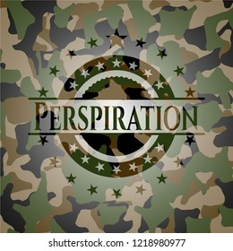 Perspiration on camouflage texture