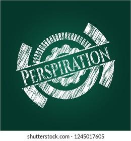 Perspiration on chalkboard