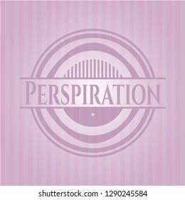 Perspiration pink emblem