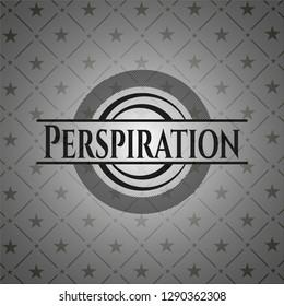 Perspiration realistic black emblem