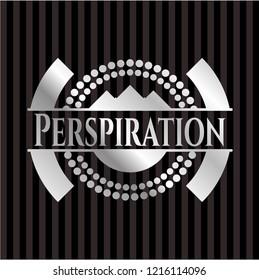 Perspiration silver shiny badge