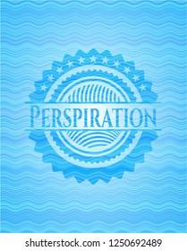 Perspiration water emblem.