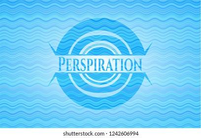 Perspiration water representation emblem.