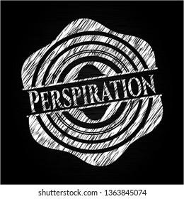 Perspiration written on a blackboard