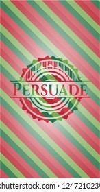 Persuade christmas emblem background.