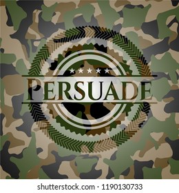 Persuade on camouflage pattern