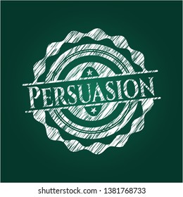 Persuasion on chalkboard. Vector Illustration. Detailed.