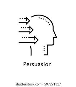 Persuasion Vector Line Icon