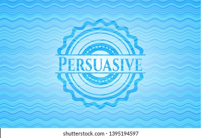 Persuasive water concept emblem. Vector Illustration. Detailed.
