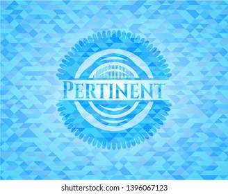 Pertinent realistic light blue emblem. Mosaic background