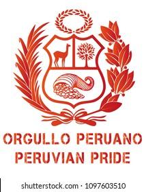 Peru Coat of arm VECTOR ILLUSTRATION