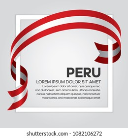 Peru flag background