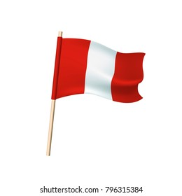 Peru flag (red and white stripes). Vector illustration