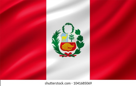 Peru Flag in Vector Illustration