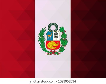 Peru Flag vector illustration. Peru Flag. National Flag of Peru. Mosaic flag. Vector