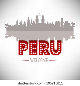 Peru Greeting card vector design.