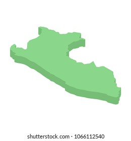 Peru isometric map of American country