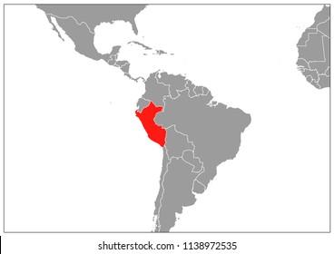 Peru map on gray base