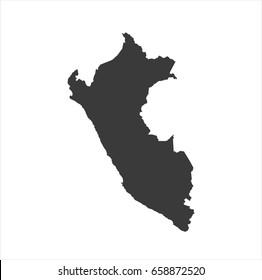 Peru map vector. / Peruo map.