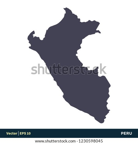 Peru South America Countries Map Icon Stock Vector (Royalty Free ...