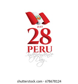 PERU. vector illustration. Design schedule for the national holiday of Peru Independence Day on July 28. Flag of Peru and design elements for decoration of posters and advertising posters.