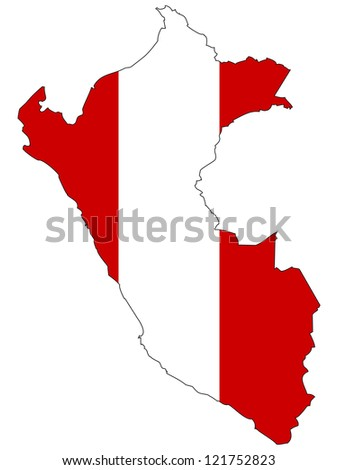 Peru Vector Map Flag Inside Stock Vector (Royalty Free) 121752823 ...