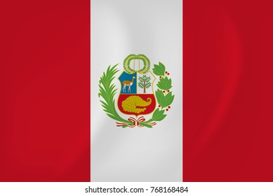Peru waving flag