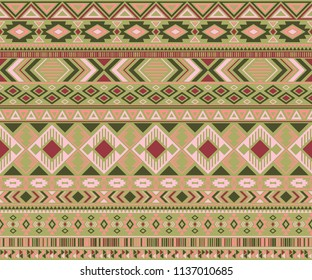 Peruvian american indian pattern tribal ethnic motifs geometric seamless background. Modern native american tribal motifs clothing fabric ethnic traditional design. Navajo symbols clothes print.