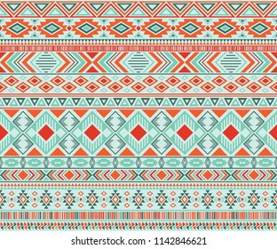 Peruvian american indian pattern tribal ethnic motifs geometric seamless background. Abstract native american tribal motifs clothing fabric ethnic traditional design. Navajo symbols fabric print.