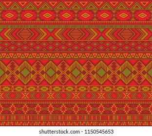 Peruvian american indian pattern tribal ethnic motifs geometric seamless background. Graphic native american tribal motifs clothing fabric ethnic traditional design. Peruvian folk fashion.