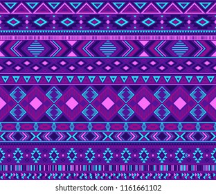 Peruvian american indian pattern tribal ethnic motifs geometric vector background. Unusual native american tribal motifs clothing fabric ethnic traditional design. Navajo symbols clothes print.