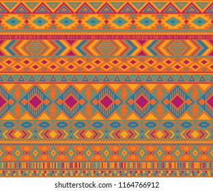 Peruvian american indian pattern tribal ethnic motifs geometric vector background. Eclectic native american tribal motifs clothing fabric ethnic traditional design. Navajo symbols fabric print.