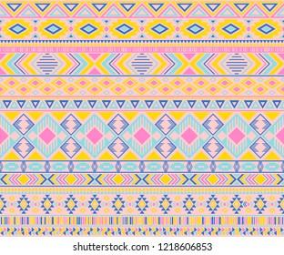Peruvian american indian pattern tribal ethnic motifs geometric seamless background. Rich native american tribal motifs textile print ethnic traditional design. Navajo symbols fabric pattern.