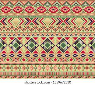 Peruvian american indian pattern tribal ethnic motifs geometric seamless background. Eclectic native american tribal motifs clothing fabric ethnic traditional design. Navajo symbols fabric pattern.