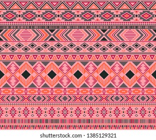 Peruvian american indian pattern tribal ethnic motifs geometric vector background. Vintage native american tribal motifs textile print ethnic traditional design. Navajo symbols clothes print.