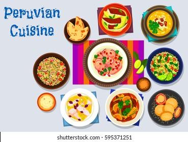 Ilustraciones Imagenes Y Vectores De Stock Sobre Cocina Peruana