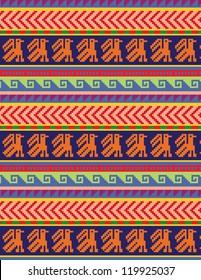 Peruvian motifs - seamless pattern