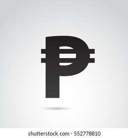 Peso icon isolated on white background. Vector art.