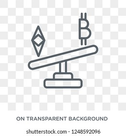 Peso icon. Trendy flat vector Peso icon on transparent background from Cryptocurrency economy and finance collection. High quality filled Peso symbol use for web and mobile