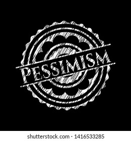 Pessimism with chalkboard texture. Vector Illustration. Detailed.