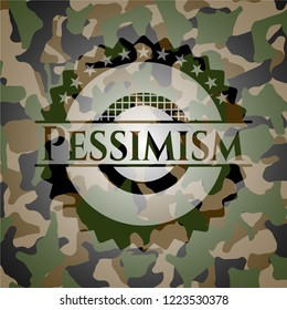 Pessimism on camouflaged texture