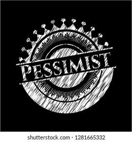 Pessimist chalkboard emblem