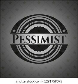 Pessimist dark emblem. Retro