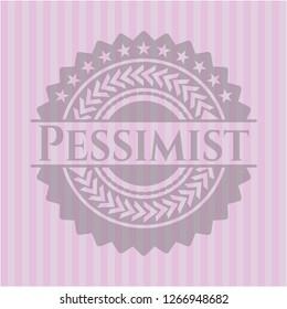 Pessimist realistic pink emblem