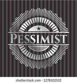 Pessimist silver badge or emblem