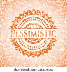 Pessimistic abstract orange mosaic emblem