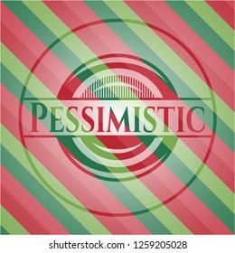 Pessimistic christmas badge.